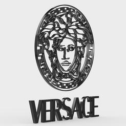 Download 3D print files versace logo, PolyArt