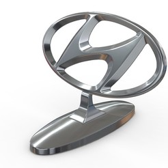 1.jpg Download 3DS file Hyundai hood ornament • 3D print model, PolyArt