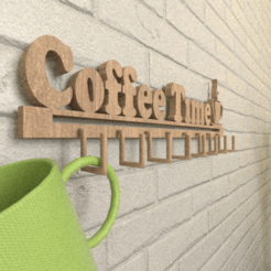 Another AAA.png Download free STL file It is COFFEE time hook • 3D print design, lightshadowds