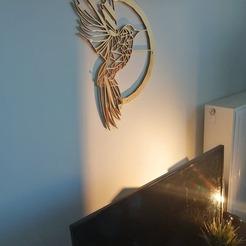 119080577_245260236753558_2976559373578490781_n.jpg Download STL file Bird Wall decoration • 3D printable template, lightshadowds