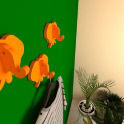 3d printed color.png Download free STL file Elephant coat hook for Kids • 3D printable model, lightshadowds