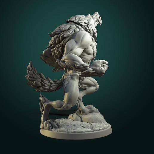 Furious Werewolf_V2_inst.jpg Télécharger fichier STL Loup-garou furieux (2 variantes) • Modèle à imprimer en 3D, White_Werewolf_Tavern