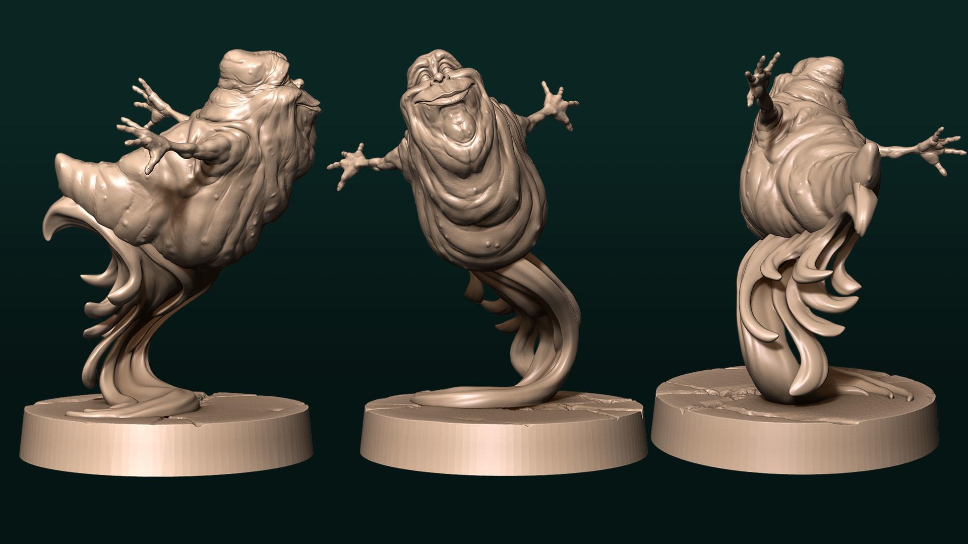 Slimer3.jpg Télécharger fichier STL gratuit Minceur heureuse • Plan pour imprimante 3D, White_Werewolf_Tavern