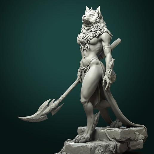 Download STL file Oleana the Werewolf Queen • 3D printing model, White_Werewolf_Tavern