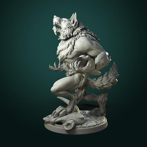 Furious Werewolf_V1_inst.jpg Télécharger fichier STL Loup-garou furieux (2 variantes) • Modèle à imprimer en 3D, White_Werewolf_Tavern
