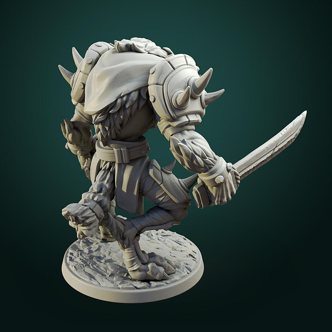 Werewolf_warrior4.jpg Télécharger fichier STL Olcan le Sage • Objet imprimable en 3D, White_Werewolf_Tavern