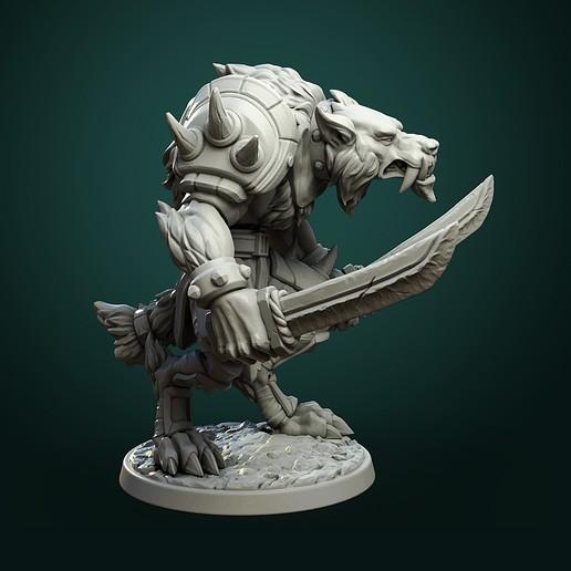 Werewolf_warrior.jpg Télécharger fichier STL Olcan le Sage • Objet imprimable en 3D, White_Werewolf_Tavern