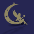 Download free 3D printer designs Angle on moon pendent, Hansa