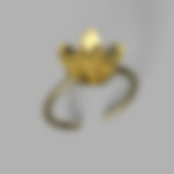 Download free STL file Flower ring • 3D printing design, Hansa