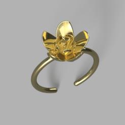 Descargar archivos 3D gratis Anillo de flores, Hansa