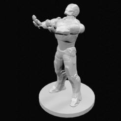 Imprimir en 3D Soporte para control de Ironman lowpoly, 3DPrintingDevise