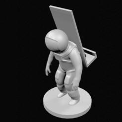 Télécharger fichier STL Support pour téléphone portable d'astronaute • Objet à imprimer en 3D, 3DPrintingDevise