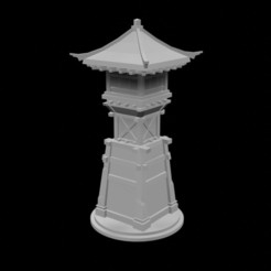 Download free 3D printing templates Japanese Tower, 3DPrintingDevise