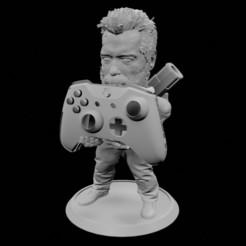 Soporte termiator old3.jpg Download STL file Old Terminator Joystick Support • 3D printing object, 3DPrintingDevise