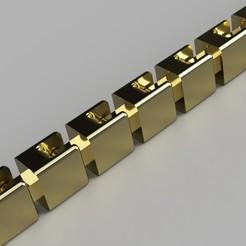 Gold_Bracelet_2020-May-11_09-21-16PM-000_CustomizedView1487615947_jpg.jpg Download STL file Gold Bracelet/Chain • Template to 3D print, Makerstube
