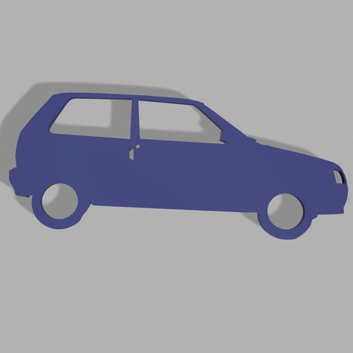Download STL files Fiat Uno Keyring, fvillalba4423