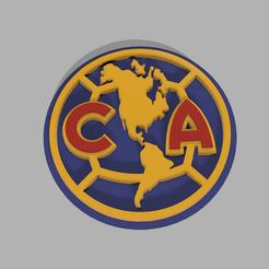 Descargar STL Logo Club America, fvillalba4423