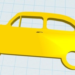 Impresiones 3D Fiat 600 Llavero, fvillalba4423