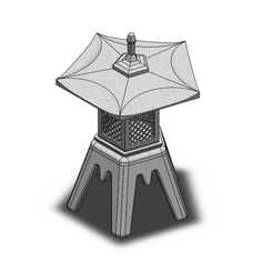 Sans titre-1.jpg Download STL file Japanese lantern to mount • Design to 3D print, Mc2h2o