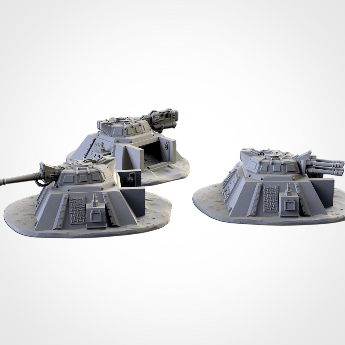 TXFA_WEB_BUNKERS_02.jpg Download STL file ARMED BUNKERS • 3D printer template, Txarli_Factory