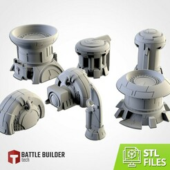 TXFA_WEB_TAU_01.jpg Download STL file XENOS BUILDINGS • 3D printing model, Txarli_Factory