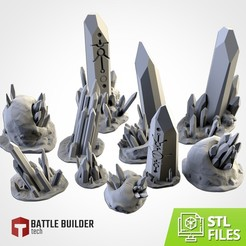 TXFA_WEB_NECRON_01.jpg Download STL file GLASS STONES TERRAIN • 3D printer template, Txarli_Factory