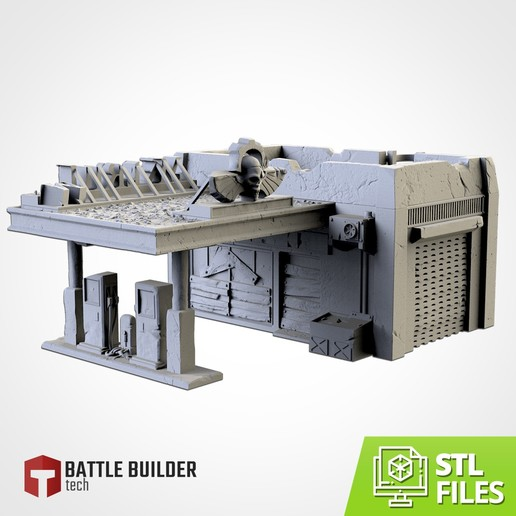 TXFA_WEB_GAS_ST_01.jpg Download STL file GAS STATION • 3D printing object, Txarli_Factory