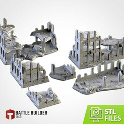 TXFA_WEB_RUINS_01.jpg Download STL file CITY RUINS • 3D printer design, Txarli_Factory