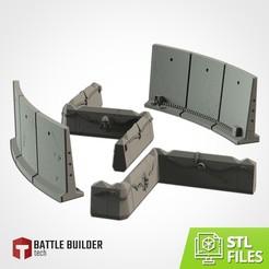 TXFA_WEB_PRODUCT_BARRICADES_01.jpg Download STL file Modular Barricades • Model to 3D print, Txarli_Factory