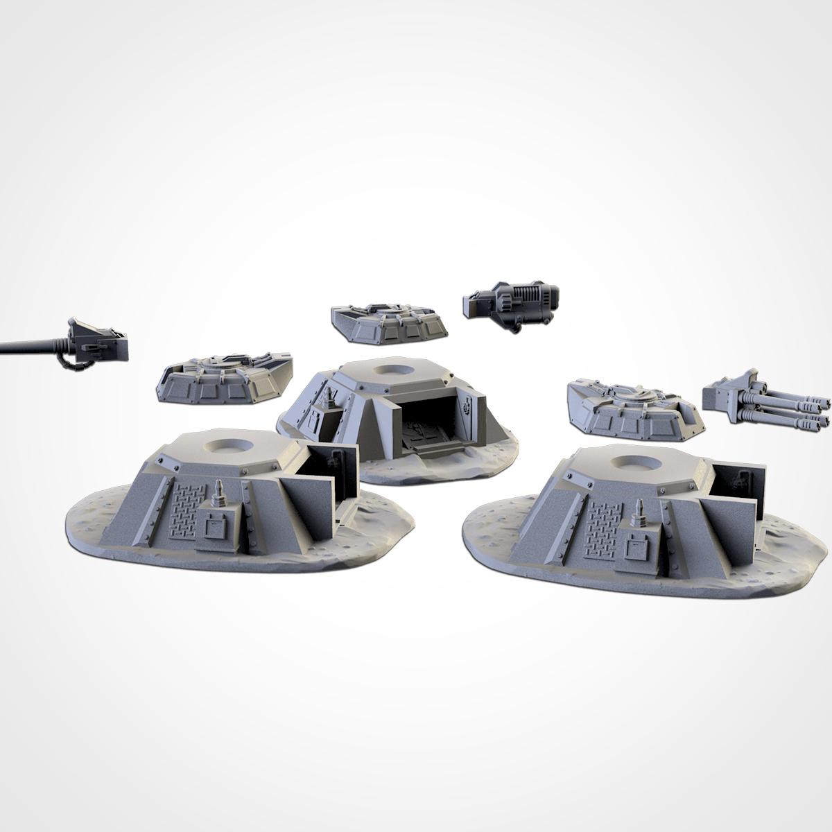 TXFA_WEB_BUNKERS_03.jpg Download STL file ARMED BUNKERS • 3D printer template, Txarli_Factory