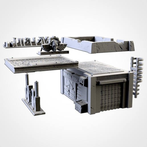 TXFA_WEB_GAS_ST_03.jpg Download STL file GAS STATION • 3D printing object, Txarli_Factory