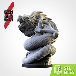 TXFA_GENG_WEB CUADRADA 4_03.jpg Download STL file The Khan's dragon • 3D printable design, Txarli_Factory