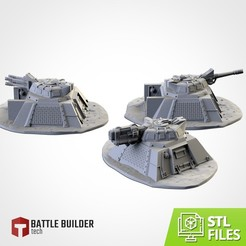 TXFA_WEB_BUNKERS_01.jpg Download STL file ARMED BUNKERS • 3D printer template, Txarli_Factory