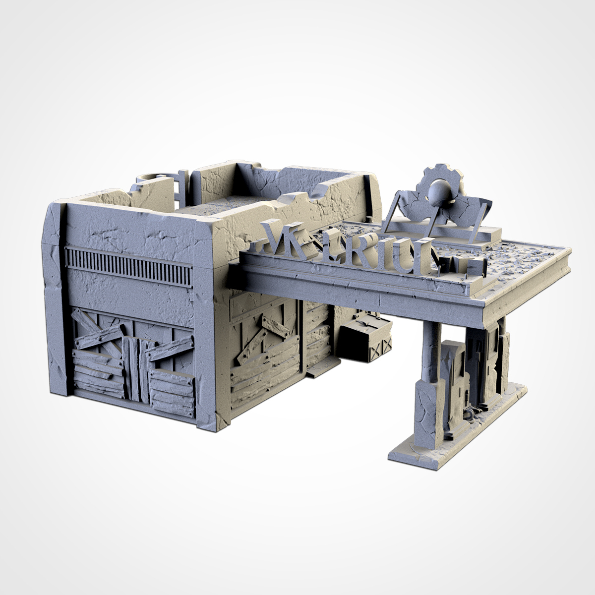 TXFA_WEB_GAS_ST_02.jpg Download STL file GAS STATION • 3D printing object, Txarli_Factory