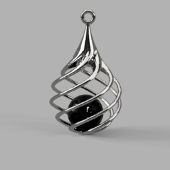 Download free 3D printer designs Drop pendant, Priti