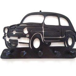 IMG_20200911_105009946.jpg Télécharger fichier STL Porte-clés mural Fiat 600 • Modèle pour impression 3D, calufa032