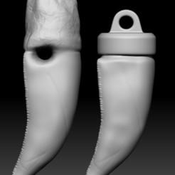 Télécharger modèle 3D Pendentif dent de tyrannosaure (avec une variation supplémentaire gratuite), SantiagoRS