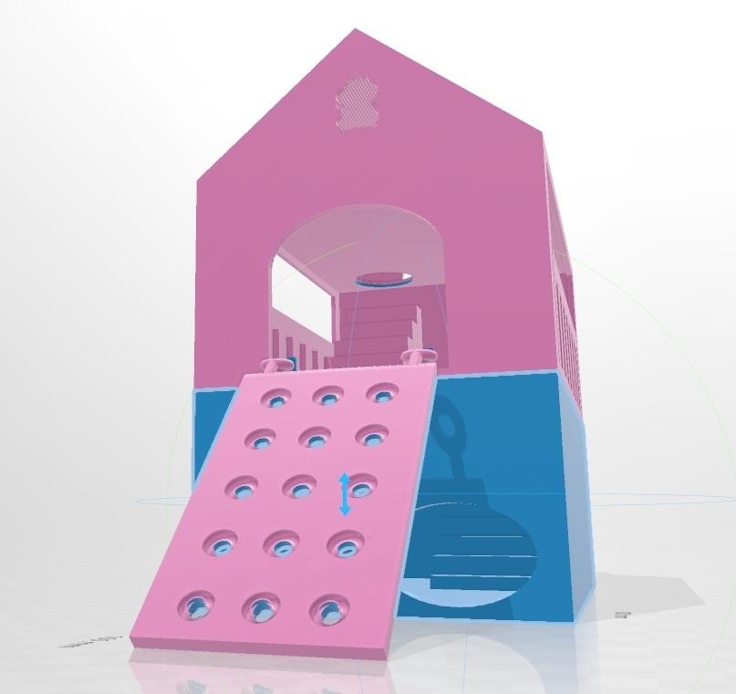 Sin título3.jpg Télécharger fichier OBJ gratuit Maison du hamster casita • Plan pour imprimante 3D, flakitasinsaber