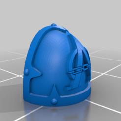 Download free 3D printer designs Chaos Alpha Shoulder Pad, Calidus