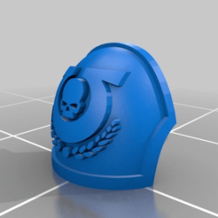 Download free 3D printing files Ultra Reaver Sgt Shoulder Pad (with wreath), Calidus