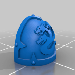 Download free 3D printer templates Chaos Hydra Shoulder Pad, Calidus