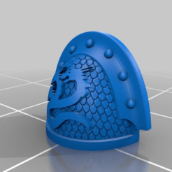 Download free 3D printer files Hydra Legion Veteran Shoulder Pad (with scales), Calidus