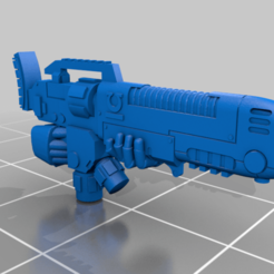Download free 3D printer templates Ultra Hellblaster gun (with hands attached), Calidus
