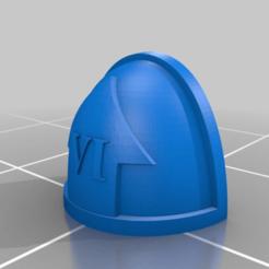 Download free STL file Space Marine Battleline Shoulder Pads (1-6), Calidus