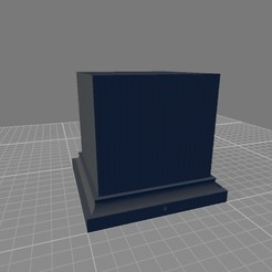 pedestal_cuadrado.jpg Download STL file Pedestal 45x45x50 • 3D printer model, JG_miniature_painter