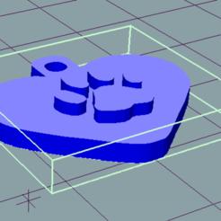 FOTO.png Télécharger fichier STL Collier pour animal de compagnie (CHIEN / CHAT) Coeur • Modèle à imprimer en 3D, douglaswolff