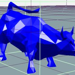 Bull Low polly FOTO 2.png Download STL file Low poly BULL • 3D print design, douglaswolff