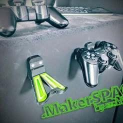 Download free STL file Playstation Controller Hanger(craddle/nest) • 3D printer design, bywebberen