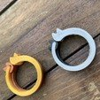 Embraced Cats Ring - Wood.jpg Download free STL file Embraced Cats Ring - 3D4Italy - Anycubic3d • 3D print object, 3d4Italy