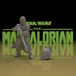 Download free STL file MANDALORIAN model & key chain • 3D print design, paltony22